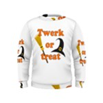 Twerk or treat - Funny Halloween design Kids  Sweatshirt