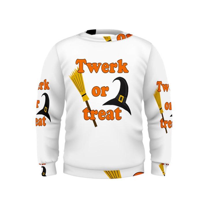 Twerk or treat - Funny Halloween design Kids  Sweatshirt