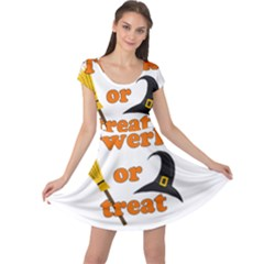 Twerk Or Treat   Funny Halloween Design Cap Sleeve Dresses by Valentinaart