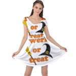Twerk or treat - Funny Halloween design Cap Sleeve Dresses