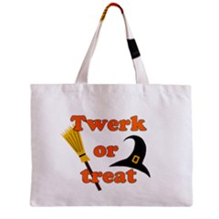 Twerk Or Treat   Funny Halloween Design Zipper Mini Tote Bag by Valentinaart