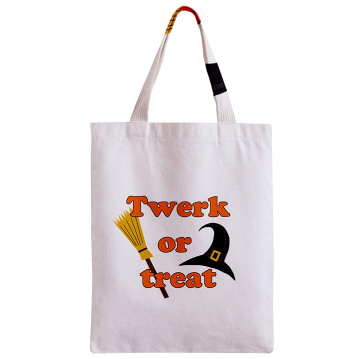 Twerk or treat - Funny Halloween design Zipper Classic Tote Bag