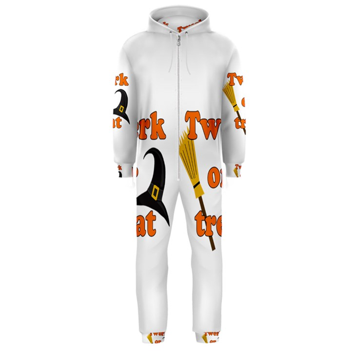 Twerk or treat - Funny Halloween design Hooded Jumpsuit (Men)