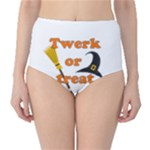 Twerk or treat - Funny Halloween design High-Waist Bikini Bottoms