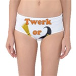 Twerk or treat - Funny Halloween design Mid-Waist Bikini Bottoms
