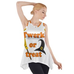 Twerk Or Treat   Funny Halloween Design Side Drop Tank Tunic