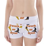 Twerk or treat - Funny Halloween design Boyleg Bikini Wrap Bottoms