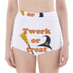 Twerk or treat - Funny Halloween design High-Waisted Bikini Bottoms