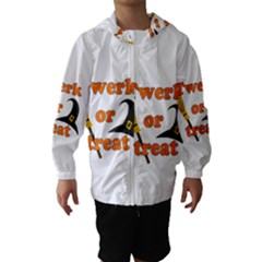 Twerk Or Treat   Funny Halloween Design Hooded Wind Breaker (kids) by Valentinaart