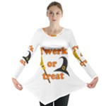Twerk or treat - Funny Halloween design Long Sleeve Tunic