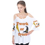 Twerk or treat - Funny Halloween design Flutter Tees