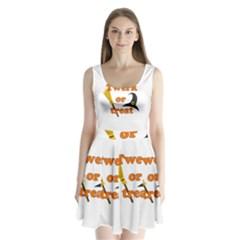 Twerk Or Treat   Funny Halloween Design Split Back Mini Dress