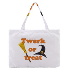 Twerk Or Treat   Funny Halloween Design Medium Zipper Tote Bag by Valentinaart