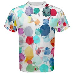 Colorful Diamonds Dream Men s Cotton Tee by DanaeStudio