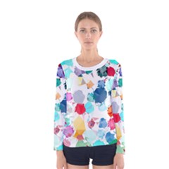 Colorful Diamonds Dream Women s Long Sleeve Tee