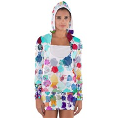 Colorful Diamonds Dream Women s Long Sleeve Hooded T Shirt by DanaeStudio