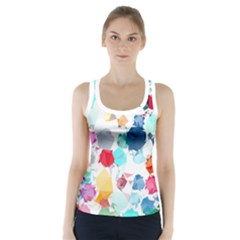Colorful Diamonds Dream Racer Back Sports Top