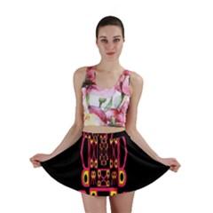 Alphabet Shirt Mini Skirt