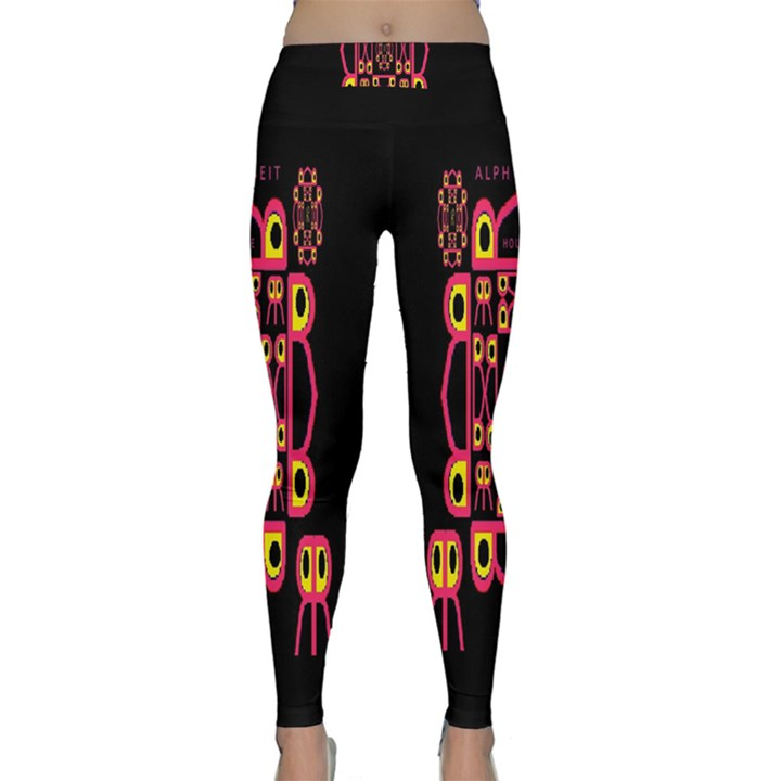Alphabet Shirt Yoga Leggings