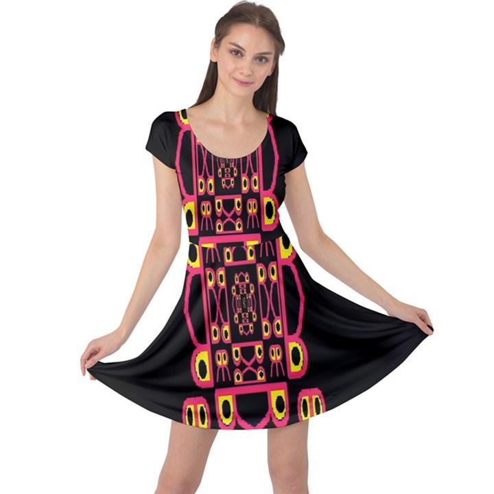 Alphabet Shirt Cap Sleeve Dresses