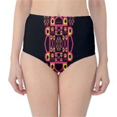 Alphabet Shirt High Waist Bikini Bottoms