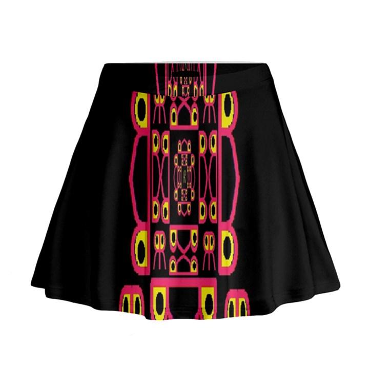 Alphabet Shirt Mini Flare Skirt