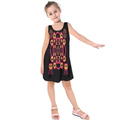 Alphabet Shirt Kids  Sleeveless Dress by MRTACPANS
