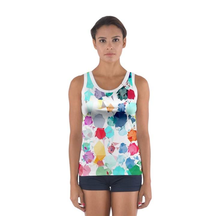 Colorful Diamonds Dream Women s Sport Tank Top