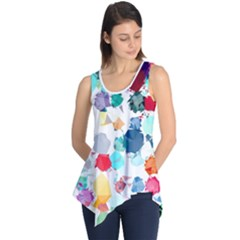Colorful Diamonds Dream Sleeveless Tunic by DanaeStudio