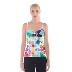 Colorful Diamonds Dream Spaghetti Strap Top by DanaeStudio
