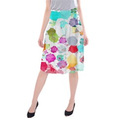 Colorful Diamonds Dream Midi Beach Skirt by DanaeStudio