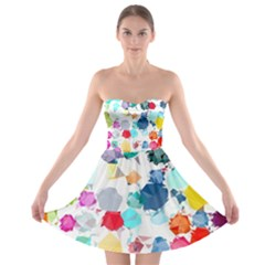 Colorful Diamonds Dream Strapless Bra Top Dress by DanaeStudio