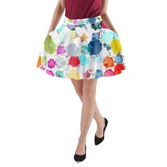 Colorful Diamonds Dream A Line Pocket Skirt by DanaeStudio
