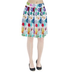 Colorful Diamonds Dream Pleated Skirt by DanaeStudio