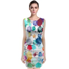 Colorful Diamonds Dream Classic Sleeveless Midi Dress by DanaeStudio
