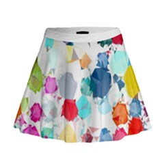 Colorful Diamonds Dream Mini Flare Skirt by DanaeStudio