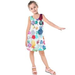 Colorful Diamonds Dream Kids  Sleeveless Dress by DanaeStudio