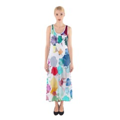 Colorful Diamonds Dream Sleeveless Maxi Dress by DanaeStudio
