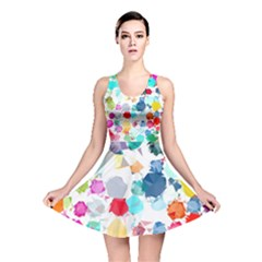 Colorful Diamonds Dream Reversible Skater Dress