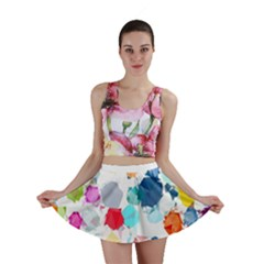 Colorful Diamonds Dream Mini Skirt by DanaeStudio