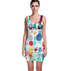 Colorful Diamonds Dream Bodycon Dress by DanaeStudio