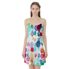 Colorful Diamonds Dream Satin Night Slip by DanaeStudio