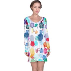Colorful Diamonds Dream Long Sleeve Nightdress by DanaeStudio