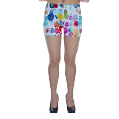 Colorful Diamonds Dream Skinny Shorts by DanaeStudio