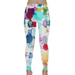 Colorful Diamonds Dream Yoga Leggings  by DanaeStudio