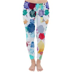 Colorful Diamonds Dream Winter Leggings  by DanaeStudio