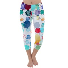 Colorful Diamonds Dream Capri Winter Leggings  by DanaeStudio