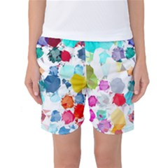 Colorful Diamonds Dream Women s Basketball Shorts by DanaeStudio