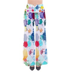 Colorful Diamonds Dream Women s Chic Palazzo Pants  by DanaeStudio