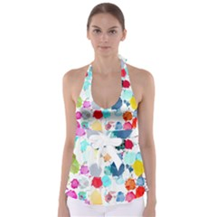 Colorful Diamonds Dream Babydoll Tankini Top